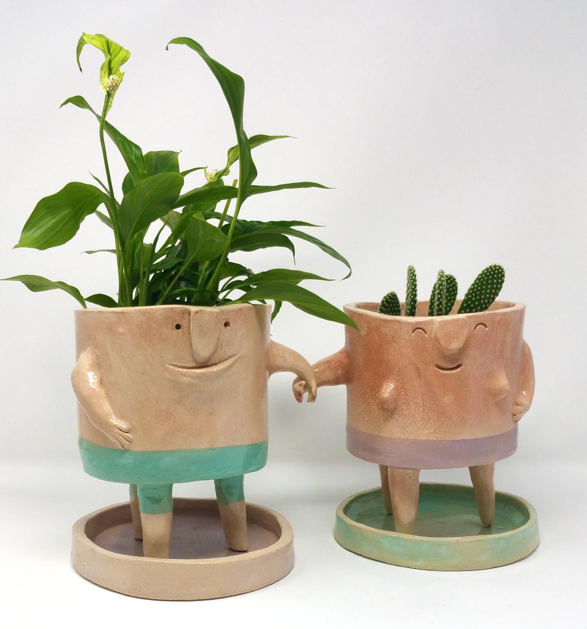 Vasi in ceramica - The TerraTiny Family - Max Schiavetta